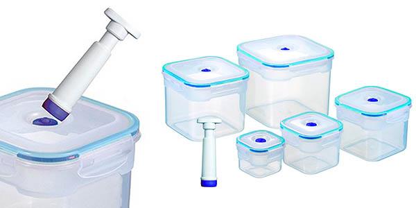 pack 5 tuppers Store Vac herméticos con bomba de vacío baratos