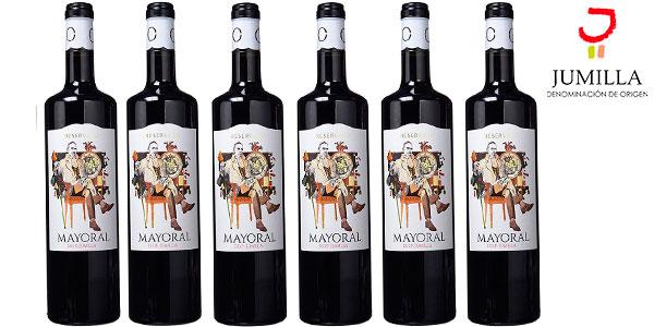 Chollo Pack de 6 botellas de vino tinto Mayoral Crianza con D.O. Jumilla