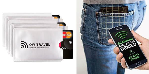 protectores RFID para tarjetas de crédito baratos