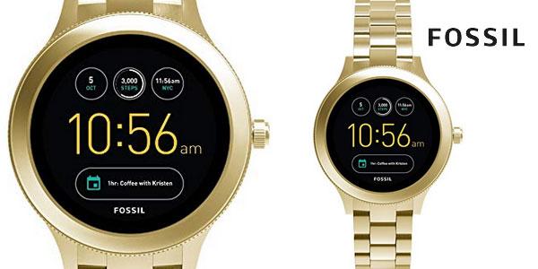 Smartwatch Fossil Q Venture Gen 3 en acero inoxidable dorado para mujer barato en Amazon