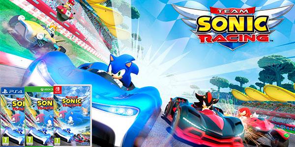 Reserva videojuego Sonic Team Racing para PS4, Xbox One y Nintendo Switch barato