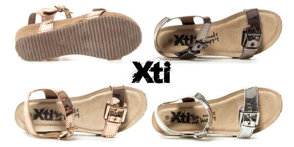 Sandalias metalizadas Xti Tinas para mujer chollazo en eBay