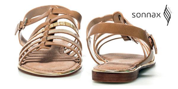 Sandalias Sonnax Vera efecto piel en color camel para mujer chollazo en eBay