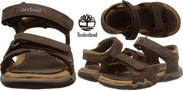 Sandalias infantiles Timberland Oak Bluffs de cuero baratas