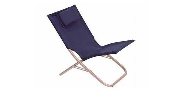 silla de playa plegable con almohadilla barata