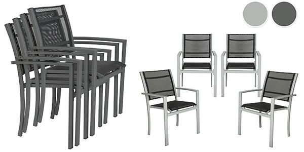 sillas jardin aluminio baratas