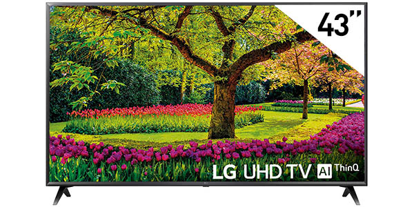 "Smart TV LG 43UK6300PLB UHD 4K HDR de 43"" con webOS y LG ThinQ AI"