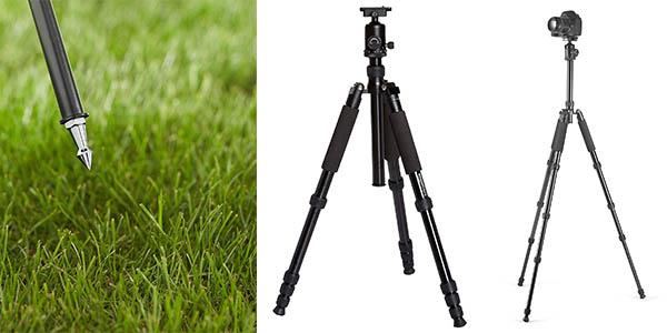 trípode AmazonBasics plegable con patas telescópicas y genial relación calidad-precio