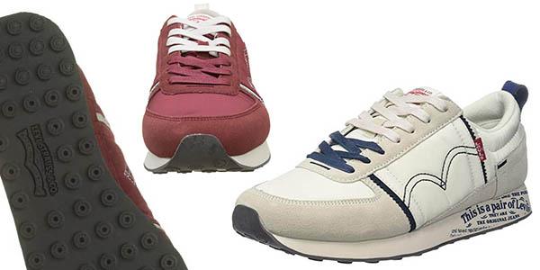 zapatillas Levi's Gilmore tela cuero para hombre oferta
