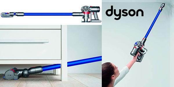 Aspiradora escoba inalámbrica Dyson V7 Fluffy de 100 W con eficiencia energética A+++ barata