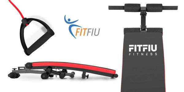Banco de abdominales Fitfiu Fitness BA-20 negro chollazo en Amazon