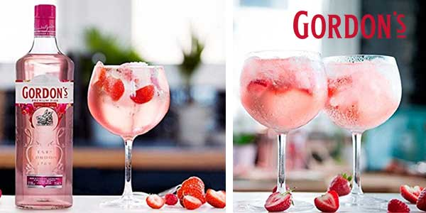 Botella Ginebra Gordon's Premium Pink Distilled Gin 700 ml chollo en Amazon