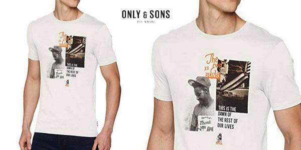 Camiseta Only & Sons Onsgabriel SS de manga corta para hombre chollo en Amazon