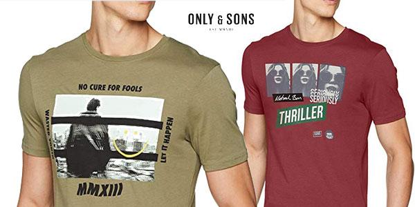 Camiseta Only & Sons Onsgabriel SS de manga corta para hombre barata en Amazon