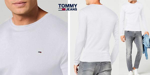 Camiseta TOMMY HILFIGER DENIM manga larga chollazo en Amazon