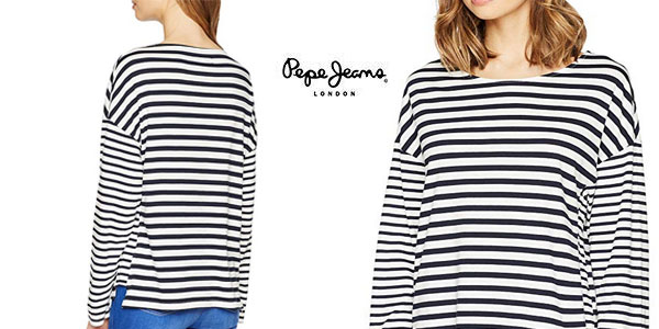 Camiseta Pepe Jeans Morgan Dulwich de rayas barata en Amazon