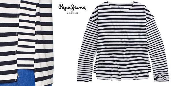 Camiseta Pepe Jeans Morgan Dulwich de rayas chollo en Amazon