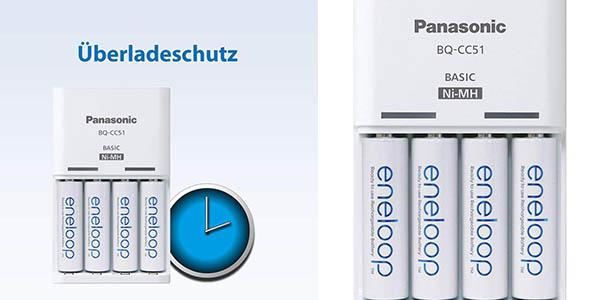 cargador Panasonic pilas AA pack Eneloop chollo