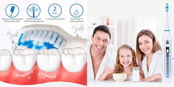 Chollo Cepillo de dientes eléctrico sónico Yasi con 3 recambios
