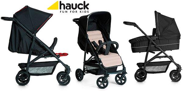 Coche Hauck Rapid 4 Plus con capazo y sillita para bebé en varios modelos en oferta