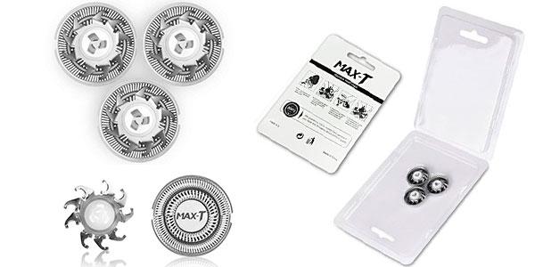 Chollo Pack de 3 cabezales de recambio para la afeitadora Max-T