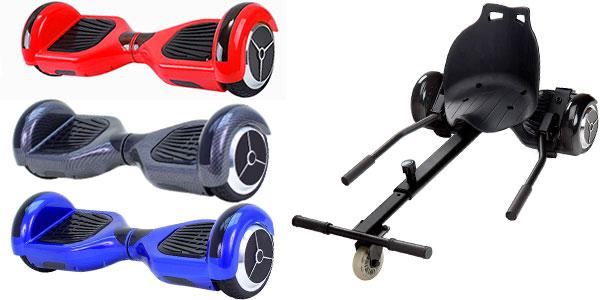 Chollo Pack Patinete eléctrico Hoverboard MR6 + RaceKart
