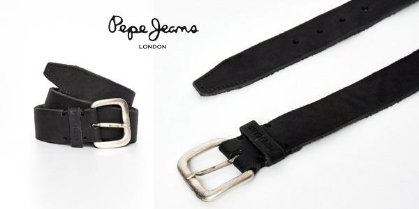Cinturón Pepe Jeans Tibol Belt en color negro para hombre chollo en Amazon