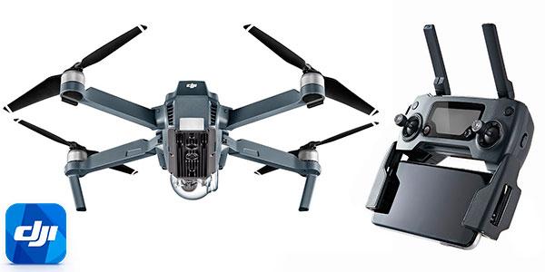 Dron cuadricóptero DJI Mavic Pro con cámara 4K en oferta
