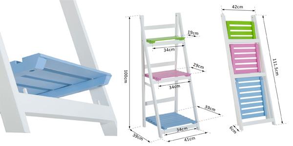 Estantería de pie plegable y multiusos con 3 estantes de madera chollazo en eBay