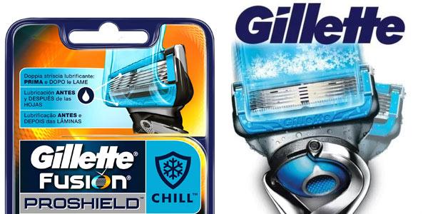 Recambios Gillette Fusion Proshield Chill baratos en Amazon