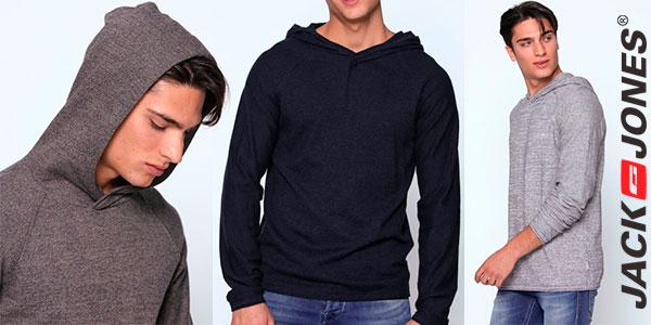 Jersey Jack & Jones Jorgo de punto tricot de algodón con capucha para hombre barato