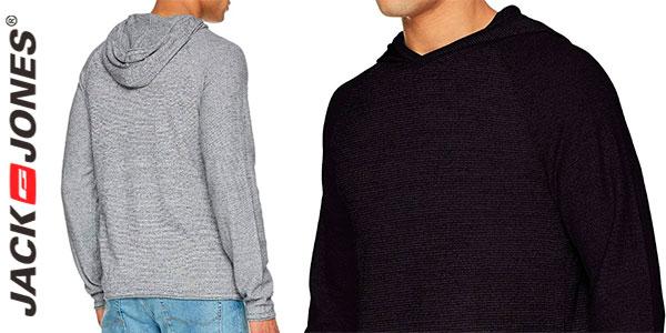 Jersey Jack & Jones Jorgo de punto tricot de algodón con capucha para hombre rebajado