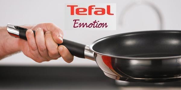 Set de 3 sartenes de acero inoxidable Tefal Emotion con base de aluminio de 20, 24 y 26 cm chollo en Amazon