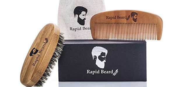 Kit Cuidado de barba Rapid Beard con cepillo y peine barato en Amazon