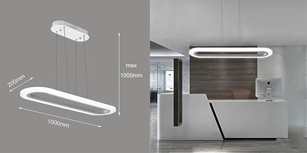 lámpara de techo ZMH de diseño contemporáneo chollo