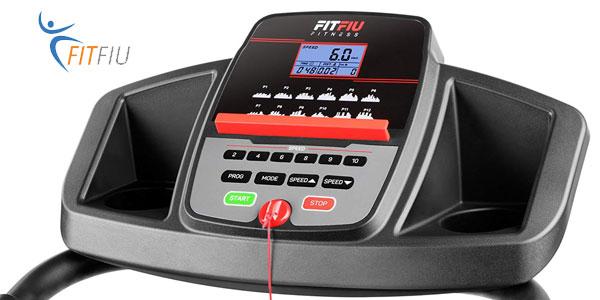 Máquina de correr plegable Fitfiu MC-100 de 900 W en negro chollo en Amazon