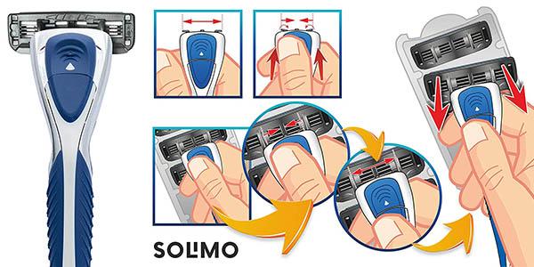maquinilla de afeitar Solimo con recambios chollo