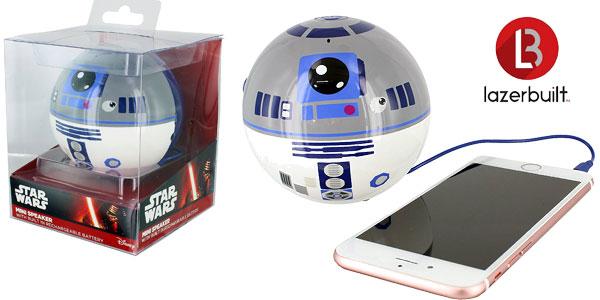 Mini Altavoz portátil diseño Star Wars Lazerbuilt SPSW-R2D2 con cable barato en Amazon