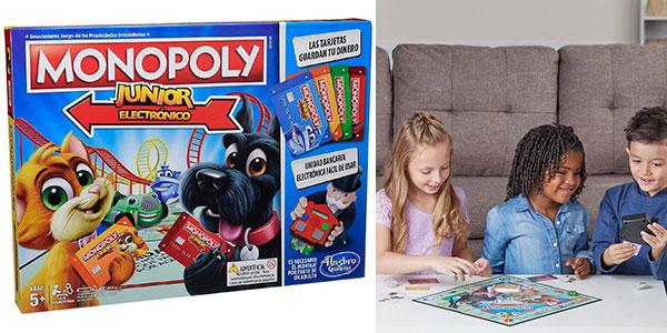 Juego de mesa Monopoly Junior Electrónico barato