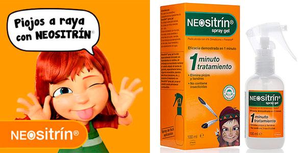 Spray gel Neositrín de 100 ml contra piojos y liendres barato