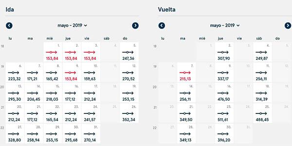 Norwegian vuelos baratos a la Costa Oeste Estados Unidos chollos marzo 2019