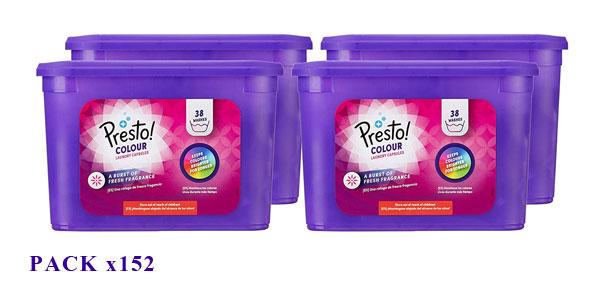 Pack Detergente en cápsulas Amazon Presto! Ropa de Color de 152 lavados barato en Amazon