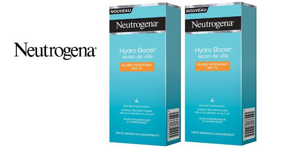 Pack x 2 Crema facial con ácido hialurónico Neutrógena Hydro Boost SPF25 barato en Amazon