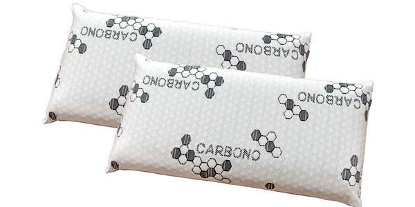 Pack de 2 almohadas Visco Copos Carbono 70 cm barato en eBay