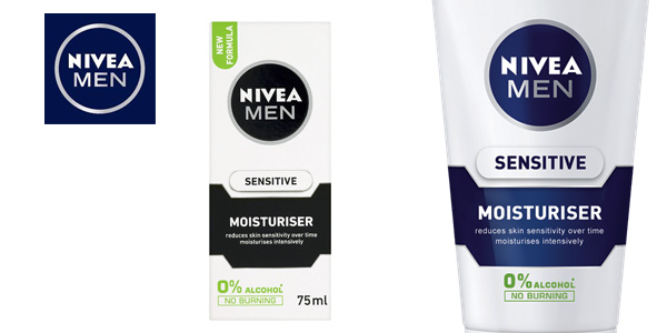 Pack de 2 cremas hidratantes faciales Nivea Men Sensitive Moisturiser chollo en Amazon