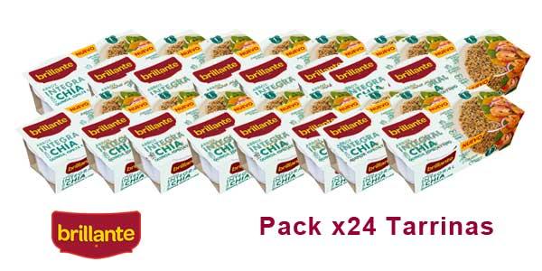Pack 24 tarrinas Arroz integral Brillante con Chía, Quinoa, Espelta y Lino barato en Amazon