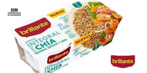 Pack 24 tarrinas Arroz integral Brillante con Chía, Quinoa, Espelta y Lino chollo en Amazon