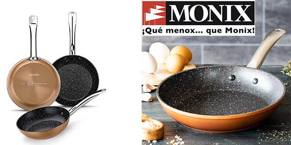 pack 3 sartenes Monix Copper antiadherentes barato
