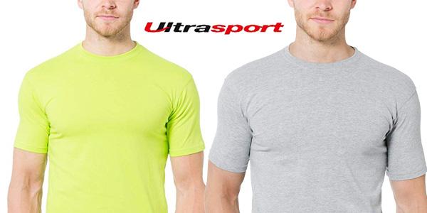 Pack x5 camisetas Ultrasport para hombre chollazo en Amazon