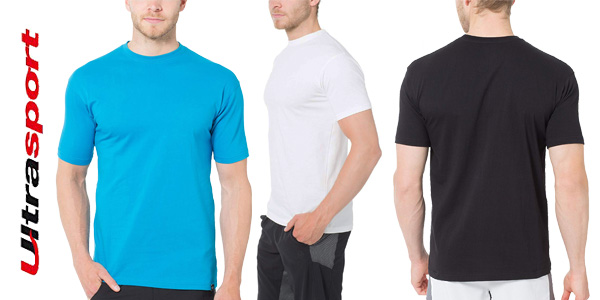 Pack x5 camisetas Ultrasport para hombre chollo en Amazon